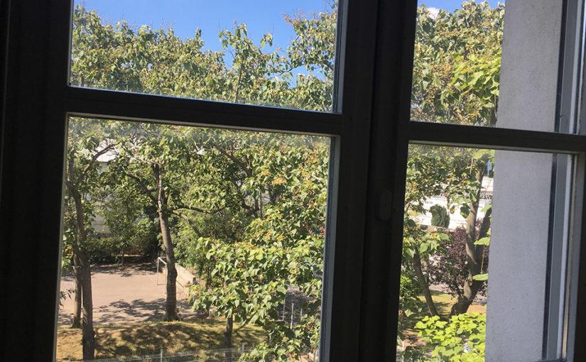 Vue de ma fenêtre d'hôpital